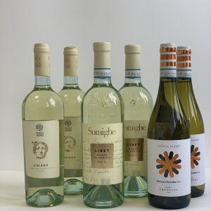 Baltų itališkų vynų rinkinys 6 but.